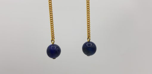 pendant d'oreille lapis lazuli détail