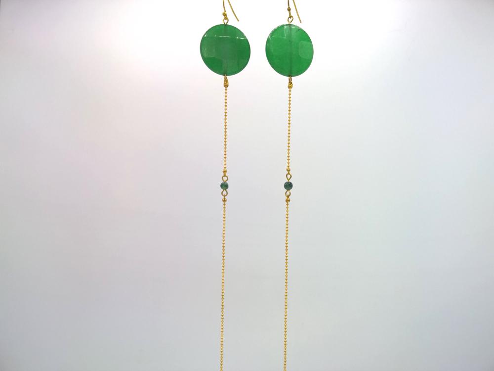divers styles qualité fiable clair et distinctif Longue boucle d'oreille Équilibre d'agates