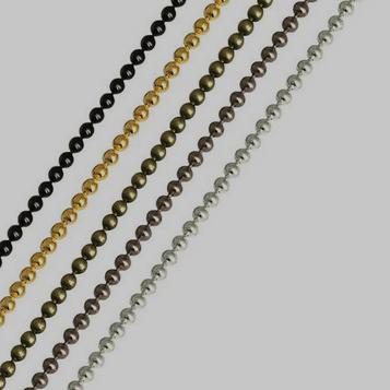 Chaine fil à boule marseillaise noir or argent