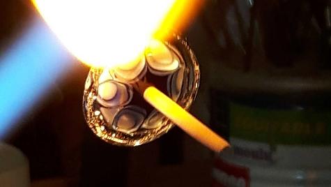 verre filé à la flamme