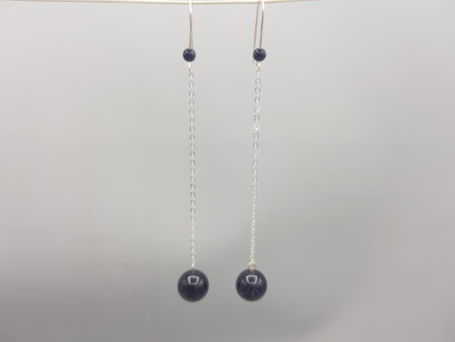 pendants d'oreilles voie lactée blue stone